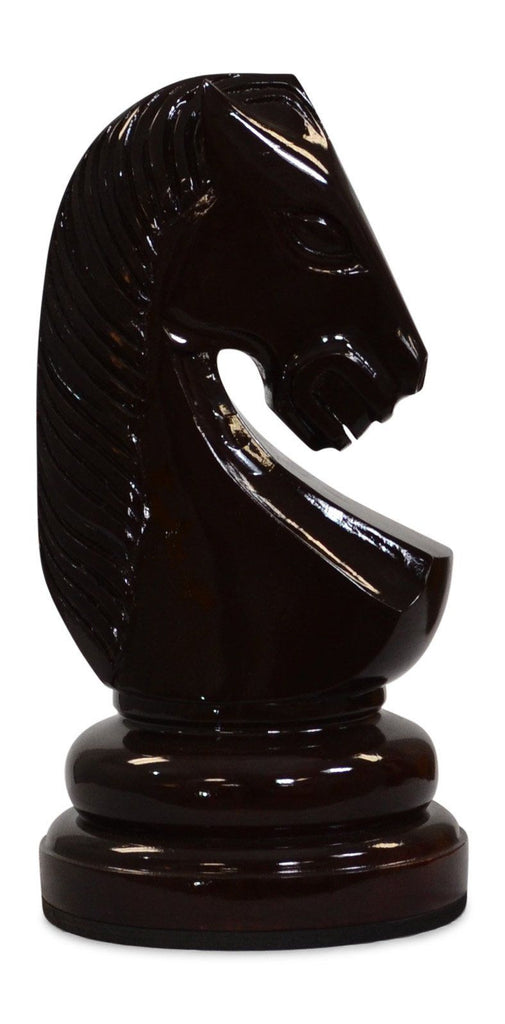 MegaChess 16 Inch Dark Teak Knight Giant Chess Piece