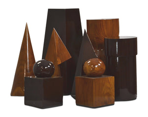 MegaChess 24 Inch Geometric Teak Giant Chess Set - LawnGames