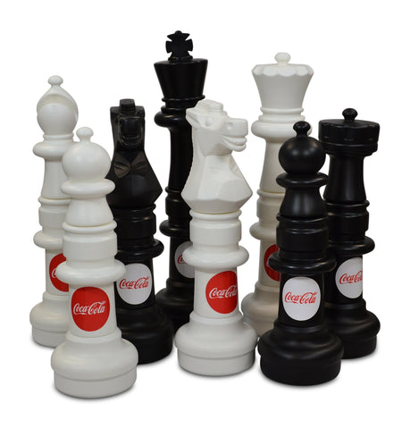 MegaChess Custom 37 Inch Plastic Giant Chess Set - LawnGames