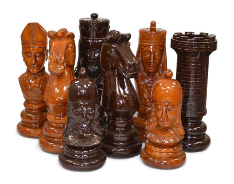 MegaChess 24 Inch Medieval Teak Giant Chess Set - LawnGames