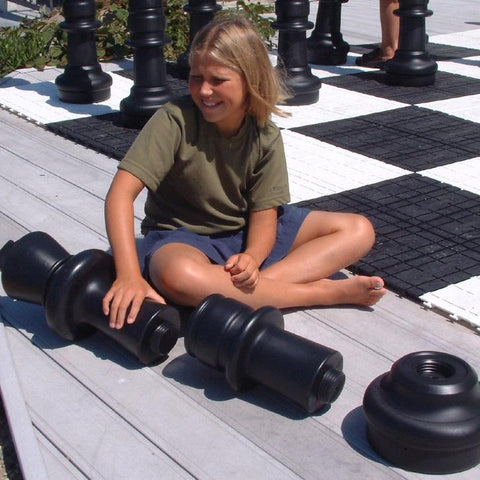 MegaChess 12 Inch Dark Plastic Extension To Lengthen Giant Chess Pieces - LawnGames