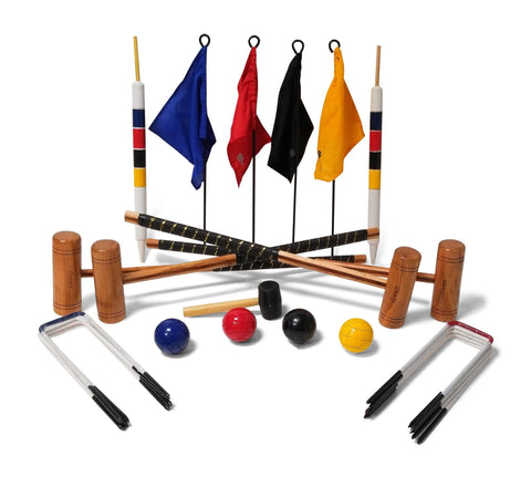 Garden Croquet Set - 4 Player 9 Hoop Version - LawnGames