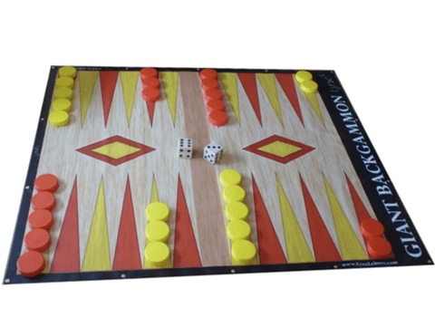 LawnGames Giant BackGammon (8 feet by 7 feet) - LawnGames