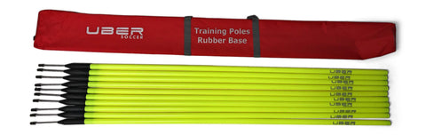 Uber Soccer Agility Training Poles with Flexi Base - Yellow - LawnGames