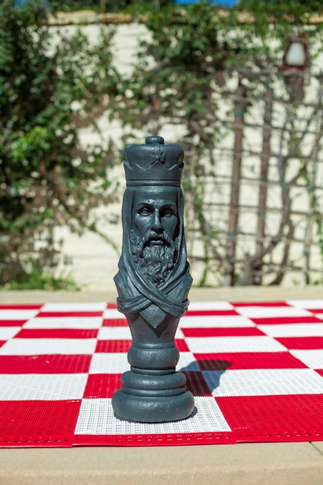 MegaChess 24 Inch Dark Fiberglass Medieval King Giant Chess Piece