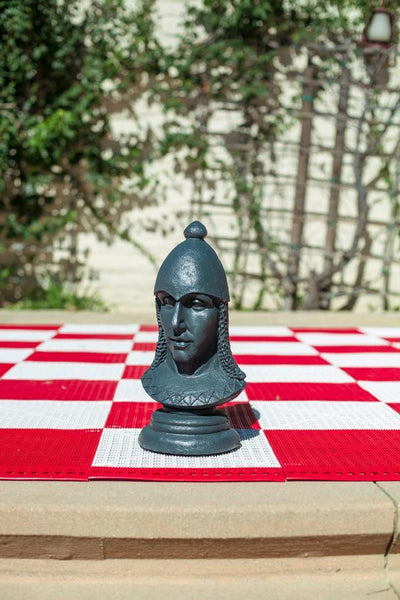 MegaChess 12 Inch Dark Fiberglass Medieval Pawn Giant Chess Piece - LawnGames