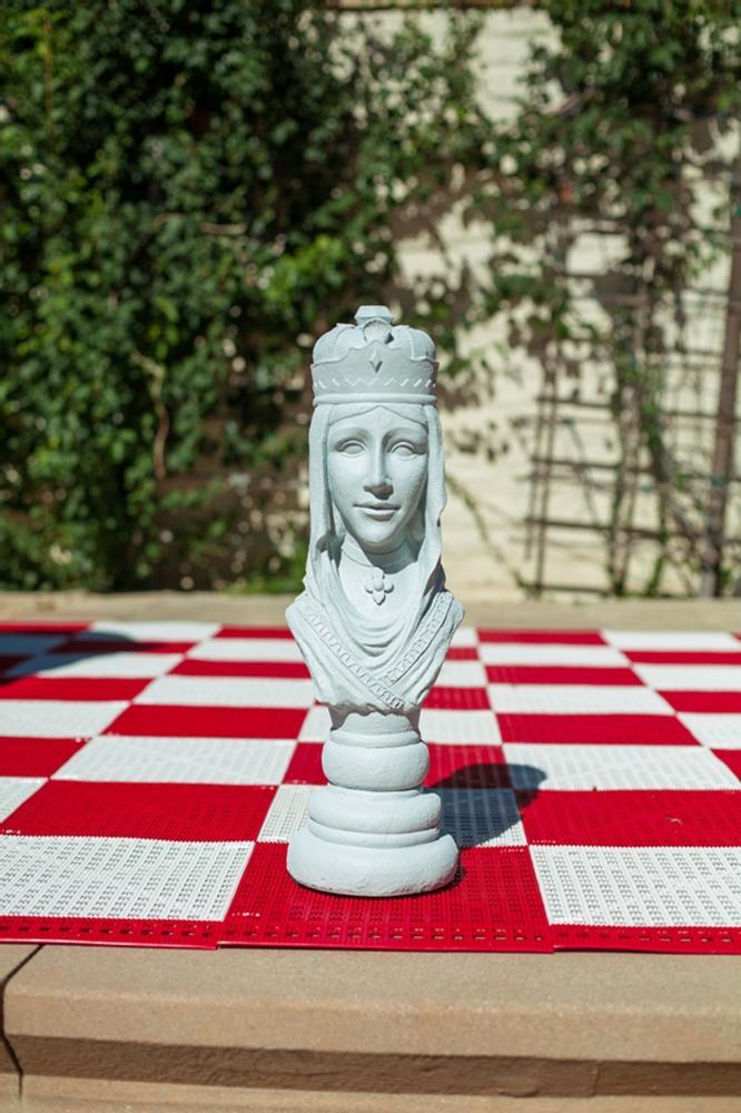 MegaChess 22 Inch Light Fiberglass Medieval Queen Giant Chess Piece