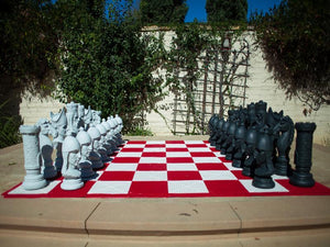 MegaChess 24 Inch Medieval Fiberglass Giant Chess Set - LawnGames