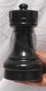 MegaChess 9 Inch Dark Plastic Rook Giant Chess Piece