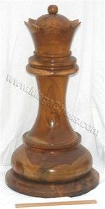 MegaChess 29 Inch Light Teak Queen Giant Chess Piece