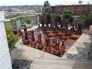 MegaChess 36 Inch Teak Giant Chess Set - LawnGames