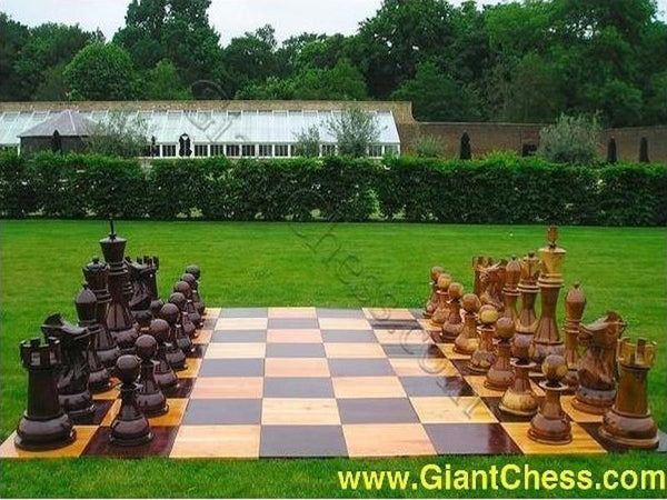 MegaChess 36 Inch Teak Giant Chess Set