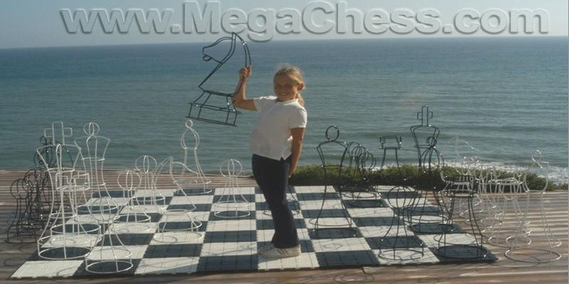 MegaChess 37 Inch Topiary Wire Frame Giant Chess Set