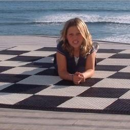 MegaChess Commercial Grade Roll Up Giant Chess Board with 12 Inch Squares 8' x 8' Available ADA Compliant Safety Edge Ramps
