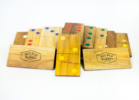 Customized Giant Dominoes - Natural Wood or Black - LawnGames