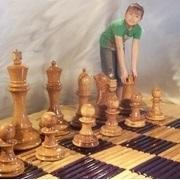 MegaChess Slotted Teak Giant Chess Board With 18 Inch Squares 12' x 12'