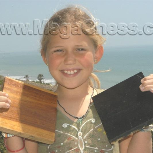 MegaChess Teak Giant Chess Board With 6 Inch Squares 4' x 4'