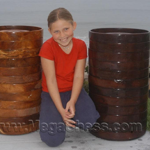 MegaChess 14 Inch Teak Giant Checkers - LawnGames