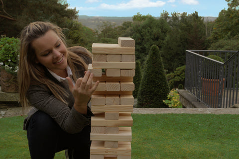 Large Tumble Tower Pine Uber Games - LawnGames