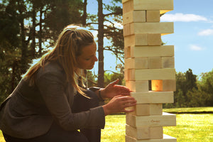Mega Tumble Tower Hardwood Uber Games - LawnGames