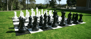 "Uber Plastic Chess Set with a 25"" King - LawnGames"