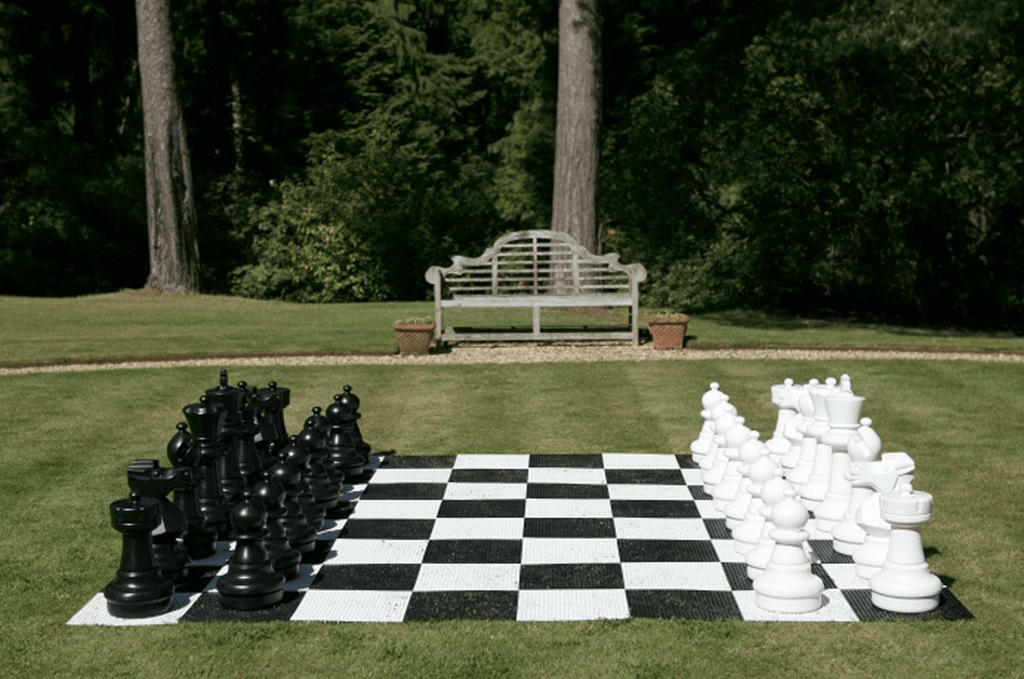 "Uber Plastic Chess Set with a 25"" King"