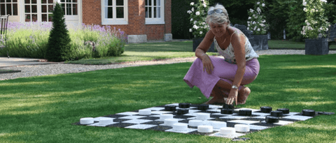 Uber Garden Plastic Checkers - LawnGames