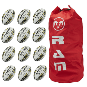Ram Rugby Victor Elite Match Ball 12 Pack Bundle - LawnGames
