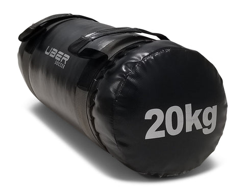 Uber Soccer Strength Training Bag - 20kg - Black - LawnGames