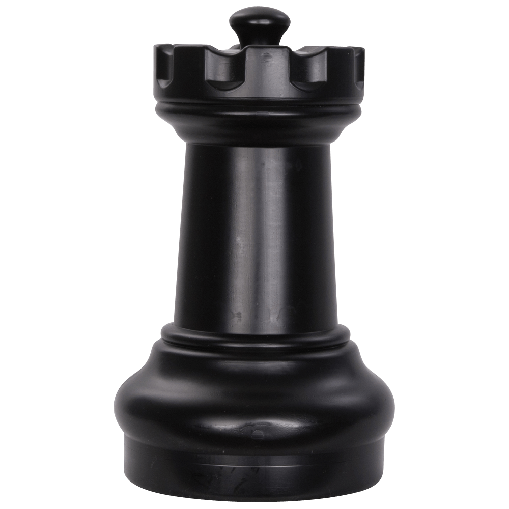 MegaChess 10 Inch Dark Plastic Rook Giant Chess Piece