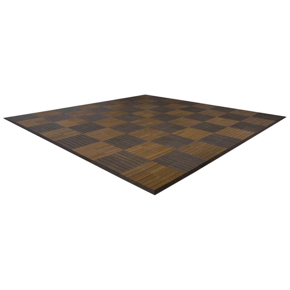 MegaChess Commercial Grade Synthetic Wood Giant Chess Board With 24 Inch Squares 16' x 16' Available ADA Compliant Safety Edge Ramps