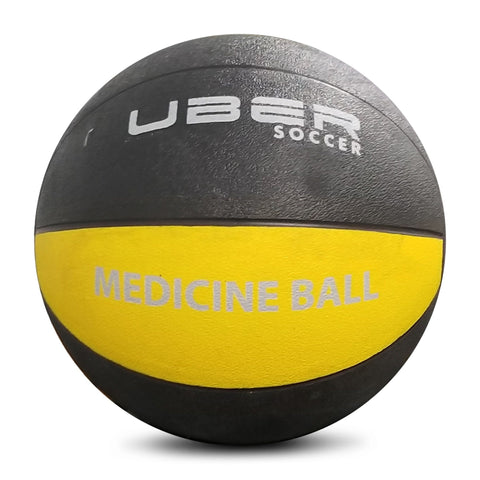 Uber Soccer Medicine Ball - 5kg (11lbs) - Yellow/Black - LawnGames