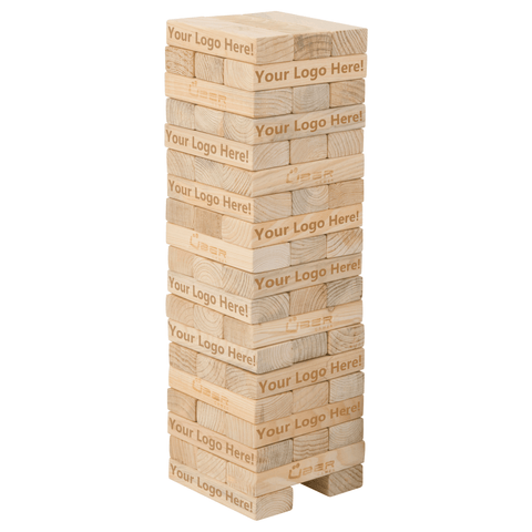 Customized Mega Tumble Tower Hardwood - LawnGames