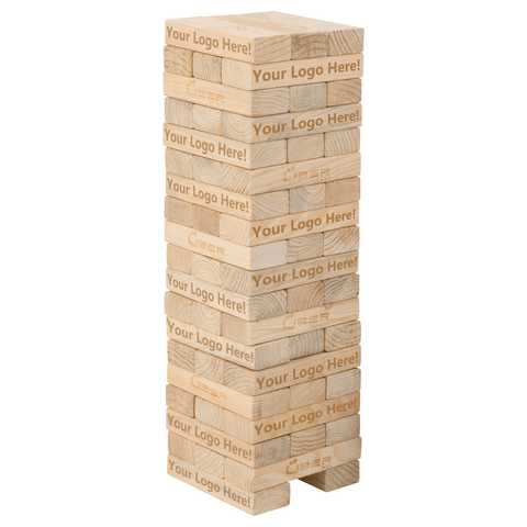 Customized Giant Tumble Tower Hardwood - LawnGames