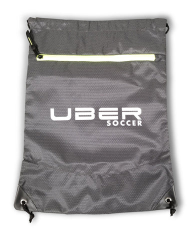 Uber Soccer Select Draw String Bag - Green and Black - LawnGames