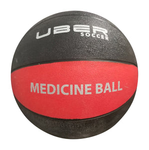 Uber Soccer Medicine Ball - 1.5kg (3lbs) - Red/Black - LawnGames
