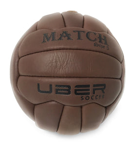 Uber Soccer Vintage Match Soccer Ball - Players Replica - Size 5 - LawnGames
