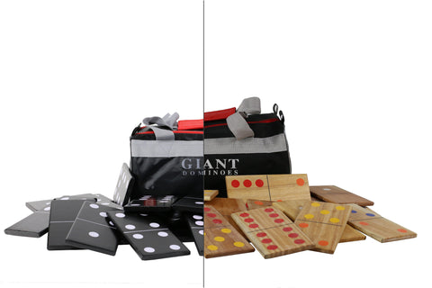 Giant Dominoes - Black and White - LawnGames