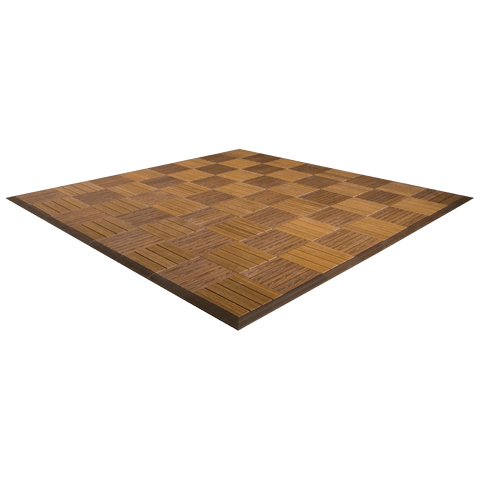 MegaChess Commercial Grade Synthetic Wood Giant Chess Board With 12 Inch Squares 8' x 8' Available ADA Compliant Safety Edge Ramps