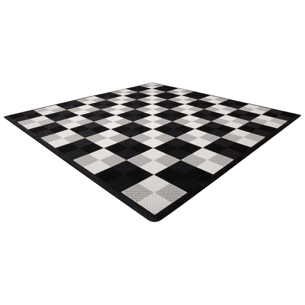 MegaChess Hard Plastic Giant Chess Board With 18 Inch Squares 12' x 12' Available ADA Compliant Safety Edge Ramps - LawnGames