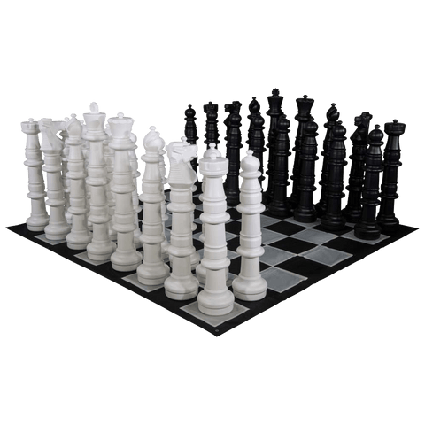 MegaChess 49 Inch Giant Plastic Chess Set - Rental - LawnGames