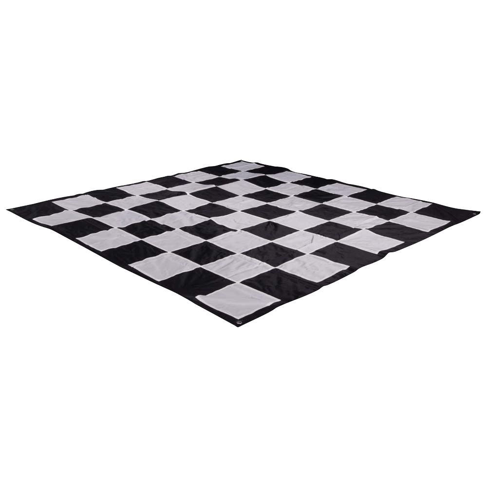 "MegaChess Quick Fold Nylon Giant Chess Mat with 8 Inch Squares - 5' 5"" x 5' 5"""