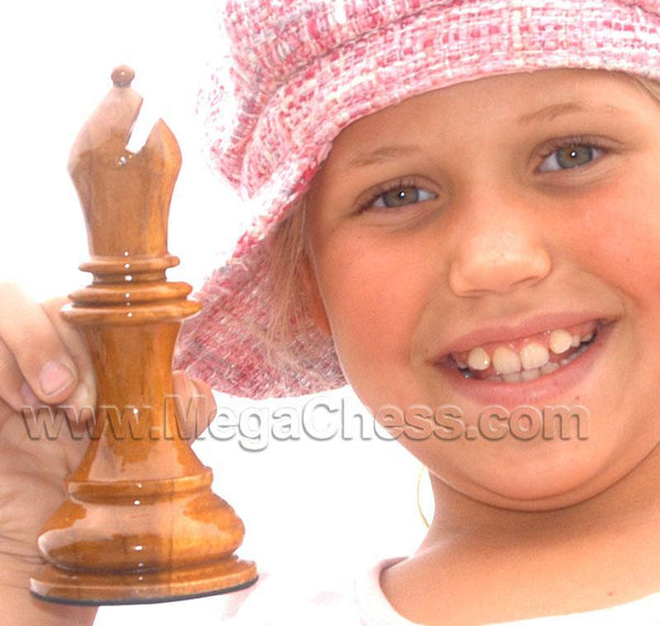 MegaChess 6 Inch Light Teak Bishop Giant Chess Piece