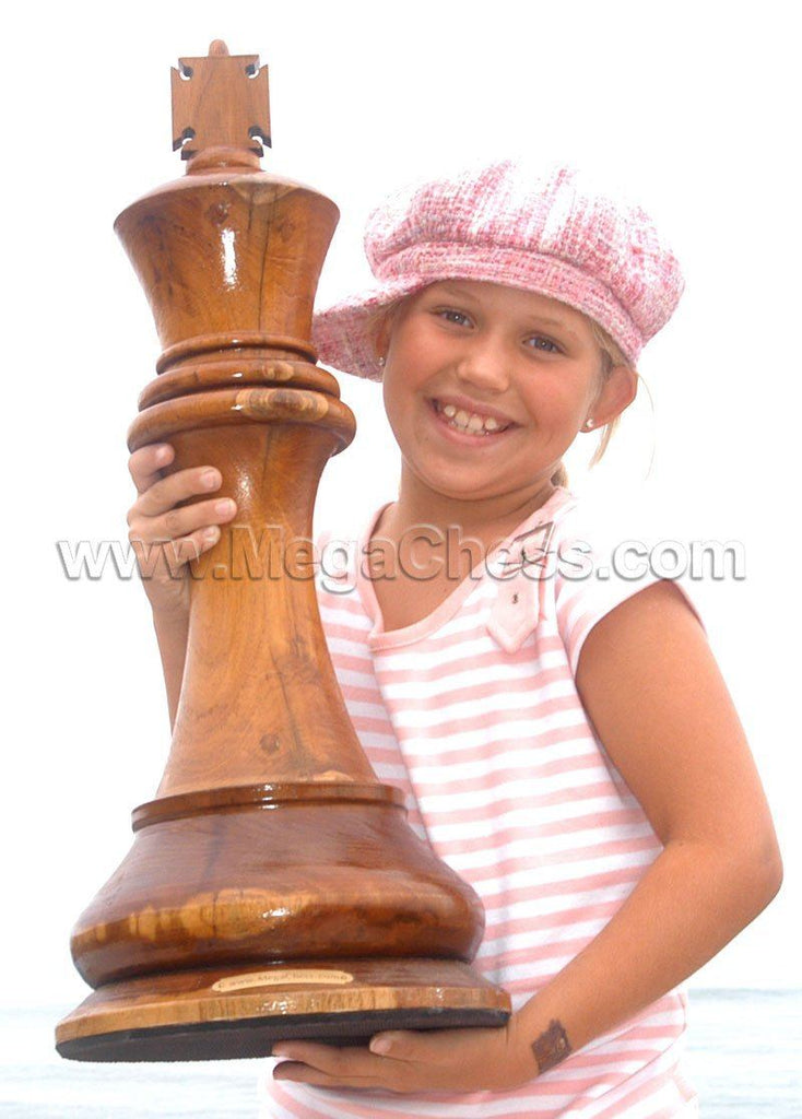 MegaChess 24 Inch Light Teak King Giant Chess Piece