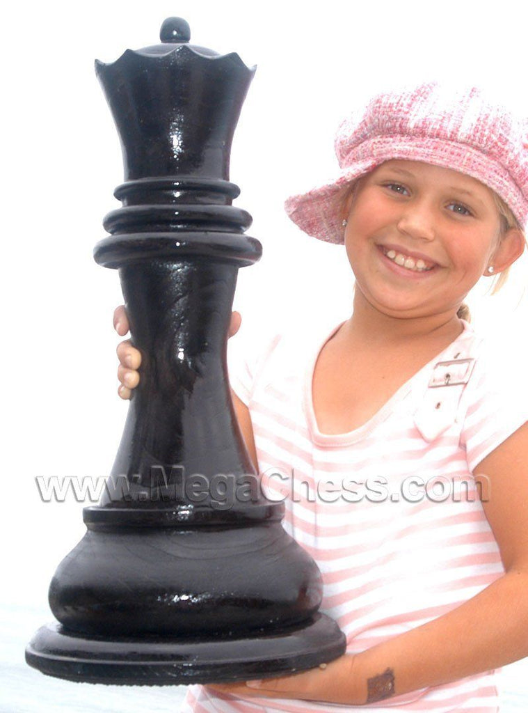 MegaChess 21 Inch Dark Teak Queen Giant Chess Piece