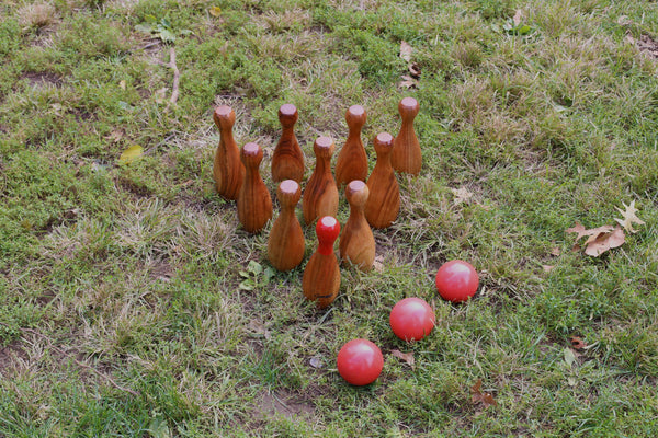 Giant Wooden Skittles Set Uber Games