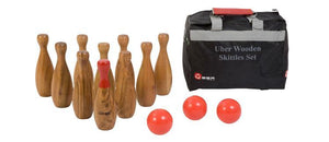 Giant Wooden Skittles Set Uber Games - LawnGames
