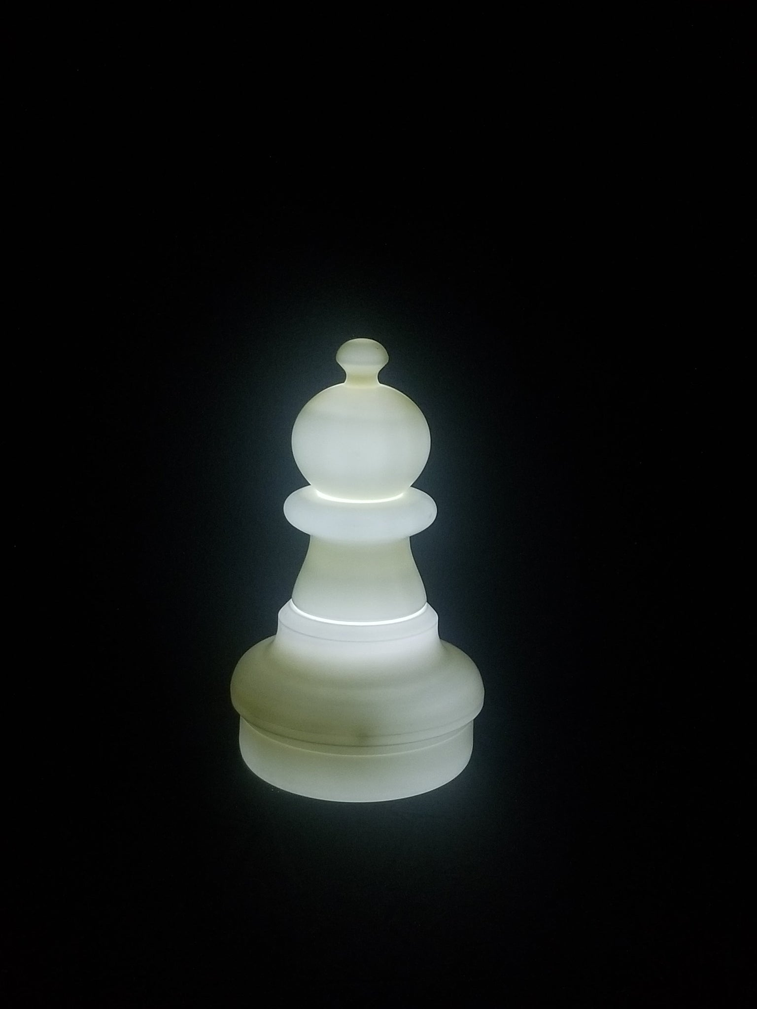 MegaChess 16 Inch LED Pawn Individual Plastic Chess Piece - White |  | GiantChessUSA