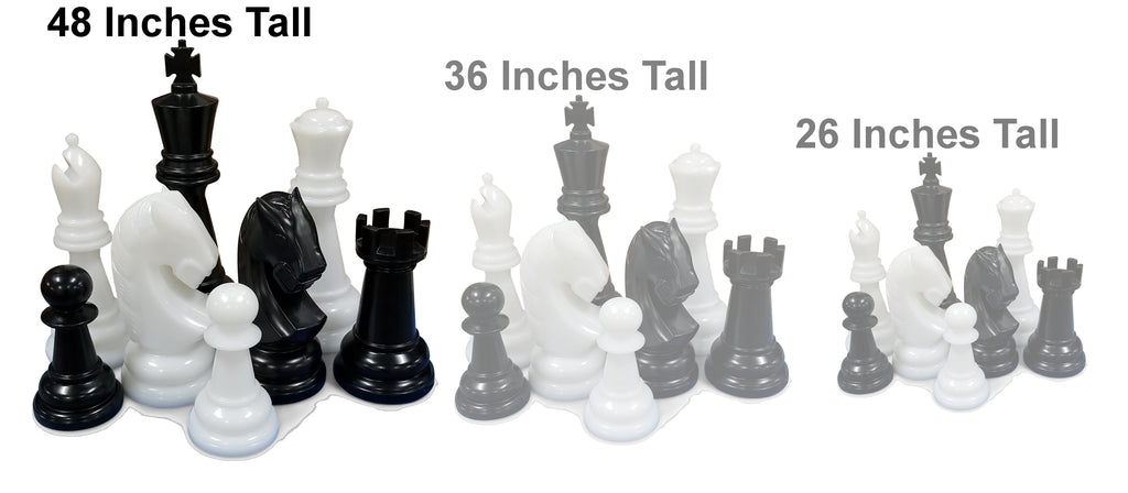 The MegaChess 48 Inch Perfect Giant Chess Set |  | GiantChessUSA