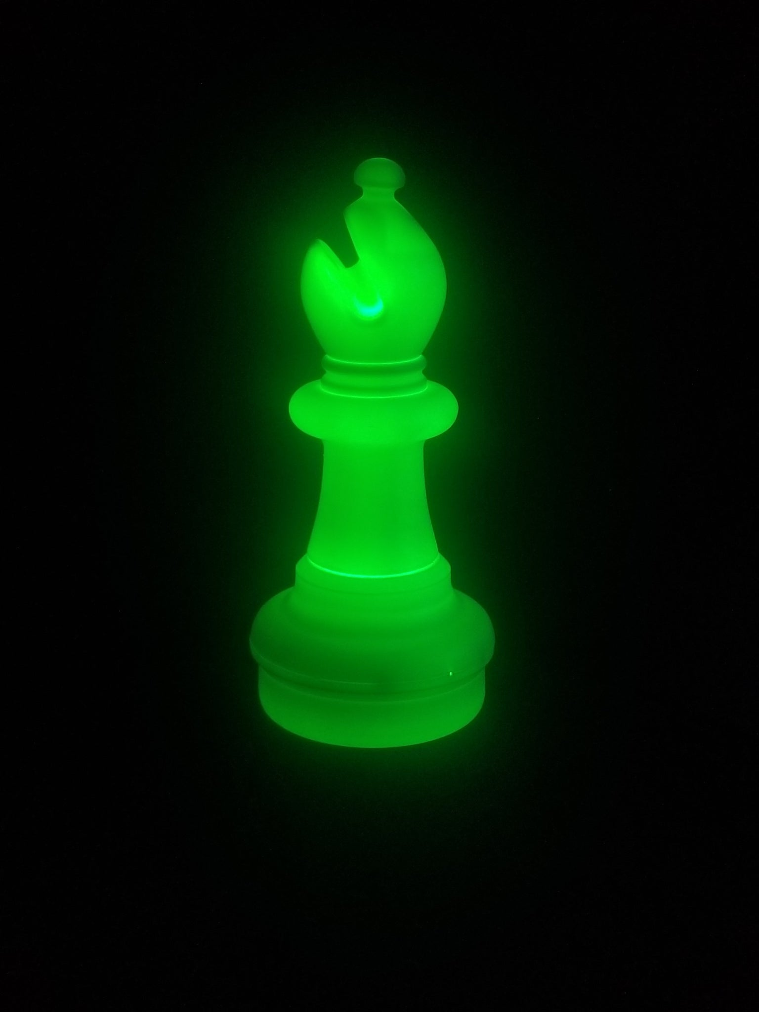 MegaChess 21 Inch LED Bishop Individual Plastic Chess Piece - Green |  | GiantChessUSA